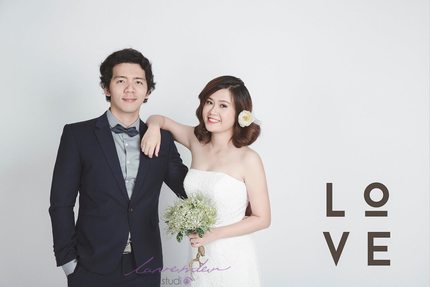 chụp hình cưới Hàn Quốc tại studio