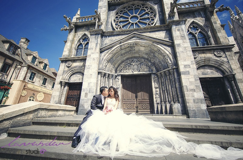 Chụp hình cưới ở bà nà hills đà nẵng