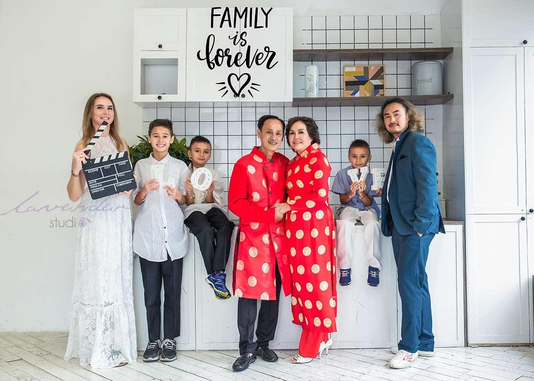 chụp hình Tết ở Sài gòn cùng gia đình