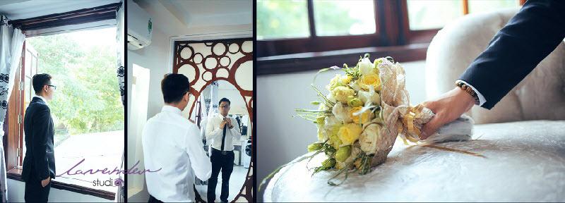 chỉnh chu cho chú rể trong ngày cưới