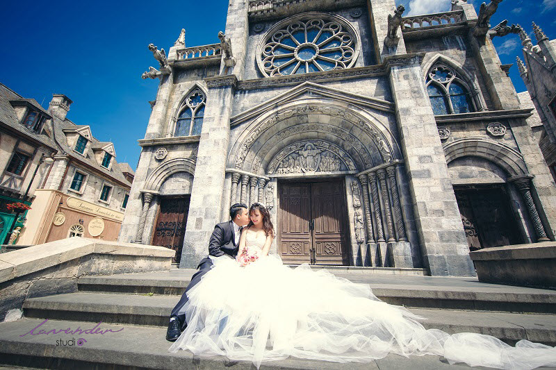 chụp hình cưới ở Bà Nà Hills
