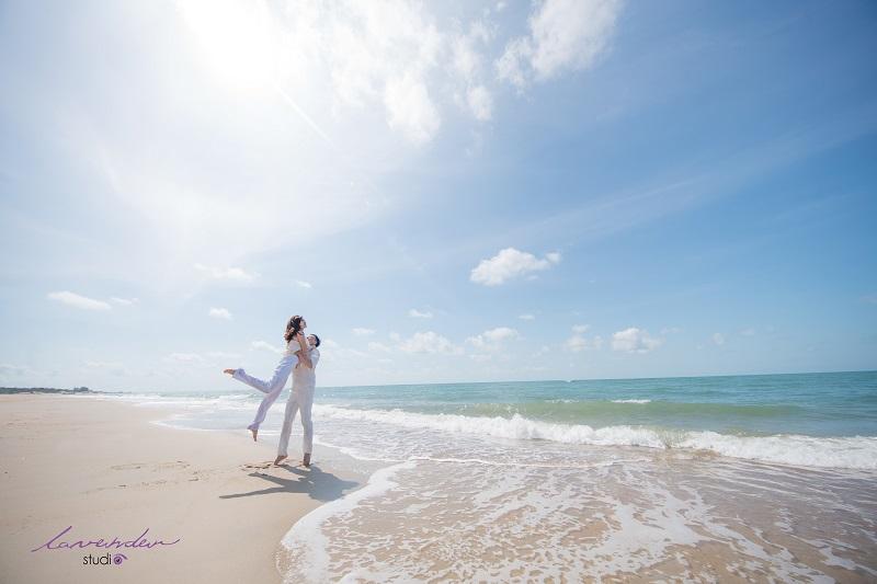 chụp hình cưới ở bãi biển hồ cốc