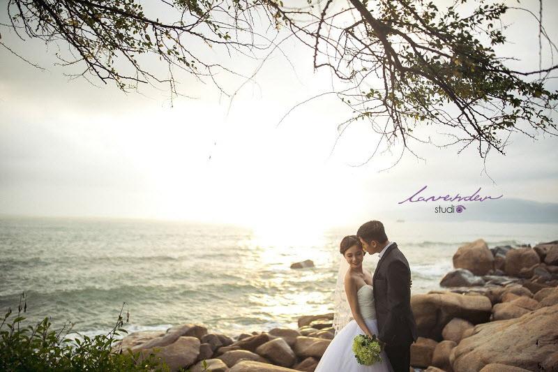 chụp hình cưới tại nha trang với lavender