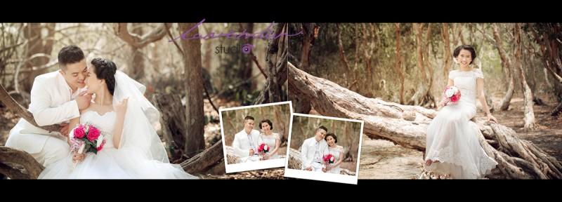 chụp ảnh cưới ở rừng tràm hồ cốc