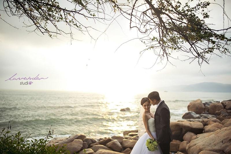 chụp cưới ngược sáng