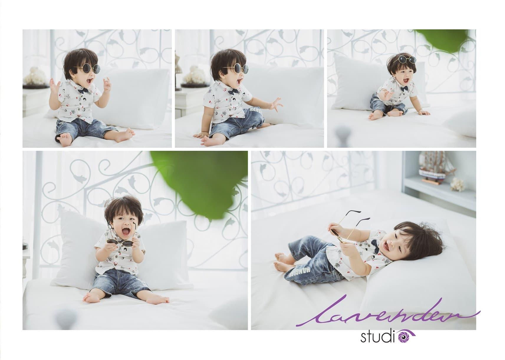 Chụp hình cho bé trai 1 tuổi với những khoảnh khắc thú vị