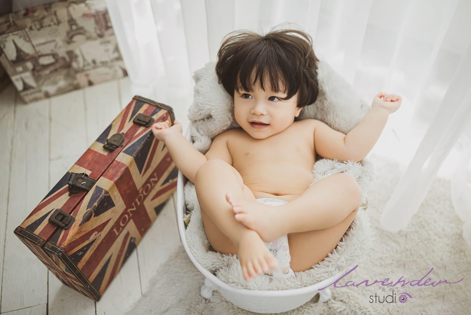 Xu hướng chụp hình cho bé trai 1 tuổi