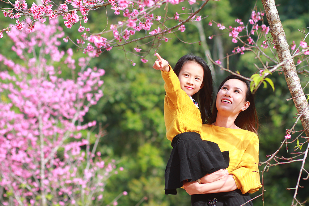 chụp hình cho mẹ và bé tại Đà Lạt đẹp