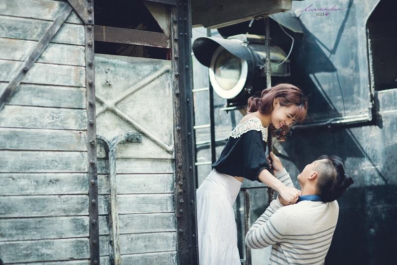 chụp hình cưới ở nhà ga đà lạt