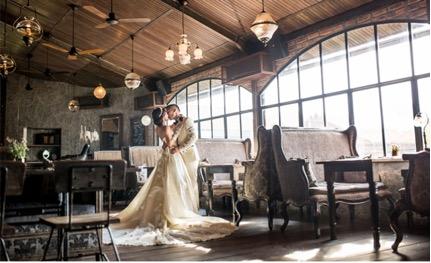 chụp hình cưới ở quán cf