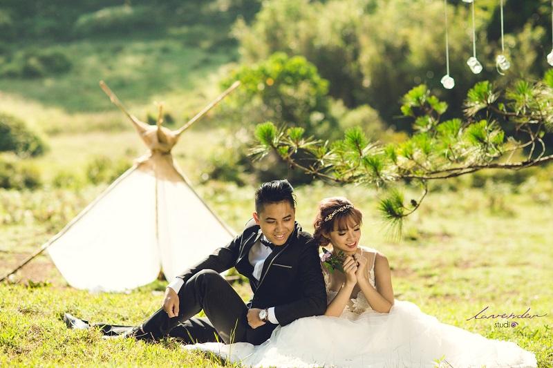 chụp hình cưới rừng thông đà lạt