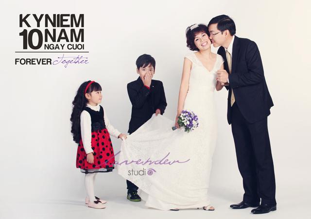chụp hình gia đình kỷ niệm ngày cưới ở tphcm
