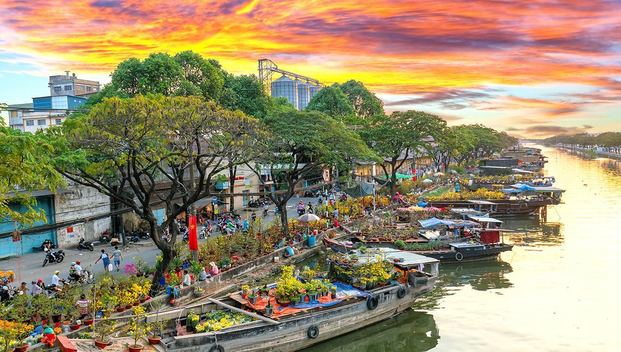 địa điểm chụp Tết 2021 ở bến Bình Đông