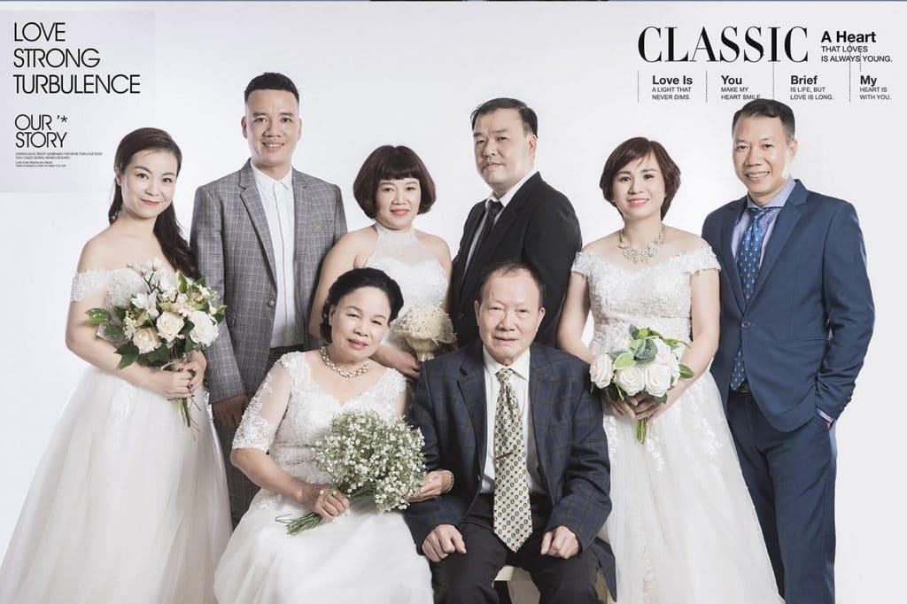 Bộ ảnh đại gia đình đẹp
