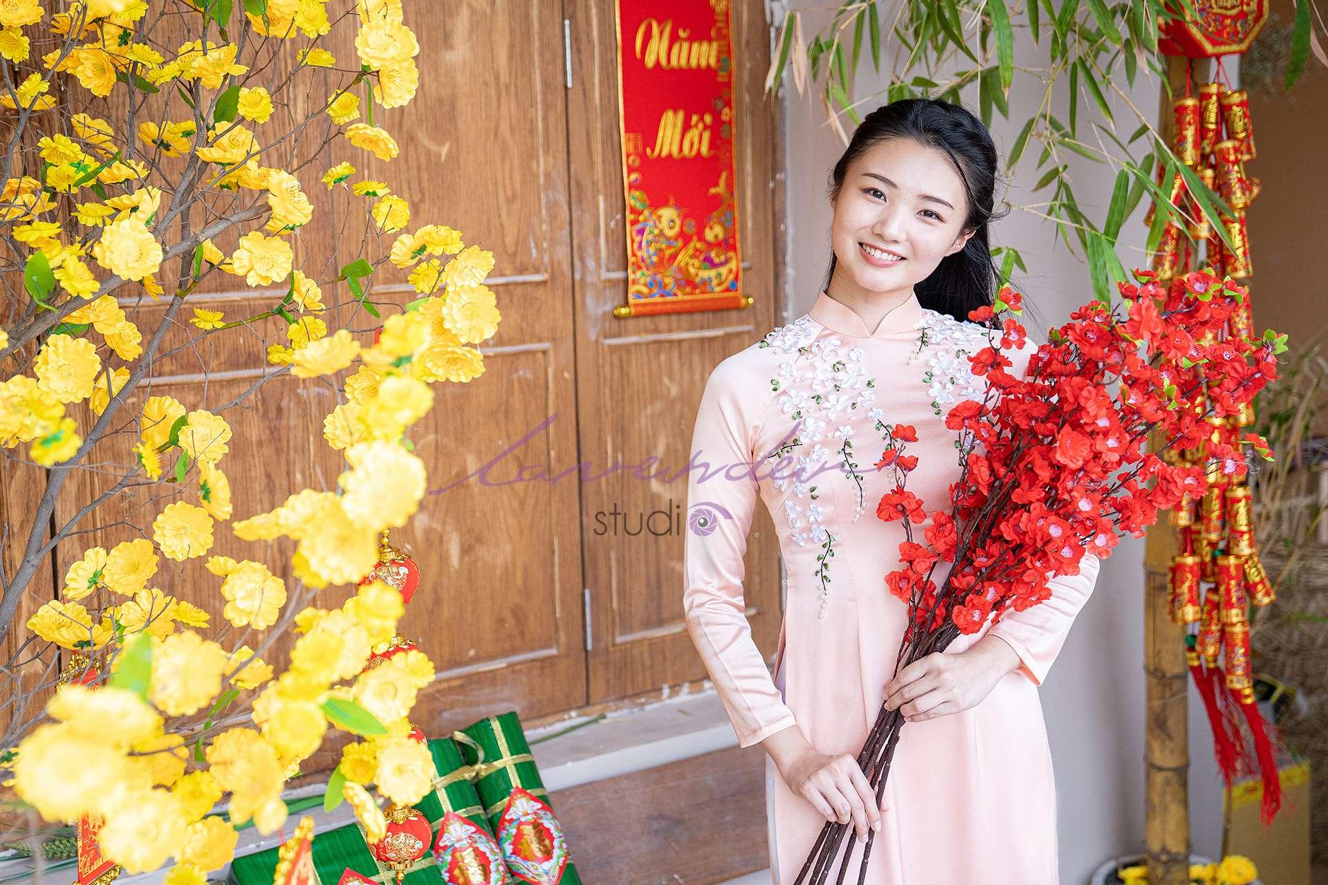studio chụp hình áo dài Tết đẹp ở Sài gòn