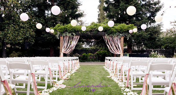 Lavender wedding trang trí cưới ngoài trời