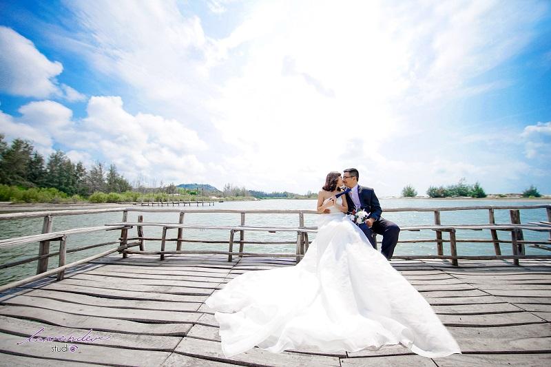 chụp ảnh cưới tại hồ cốc