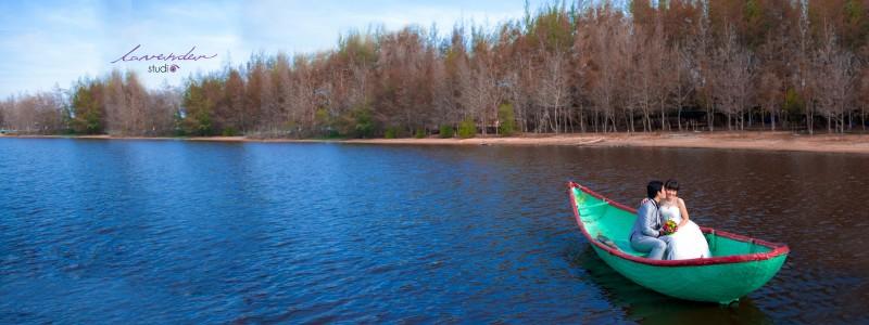 du lịch kết hợp chụp hình cưới ở hồ cốc