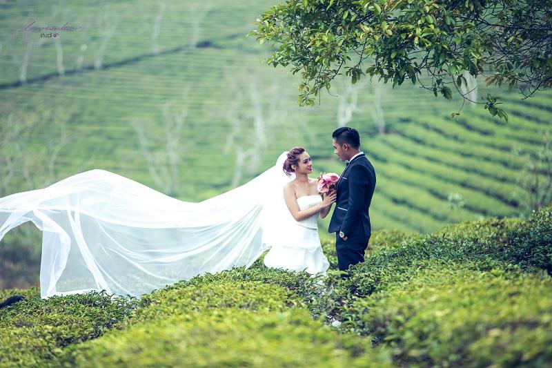những phong cách chụp hình cưới ở đà lạt