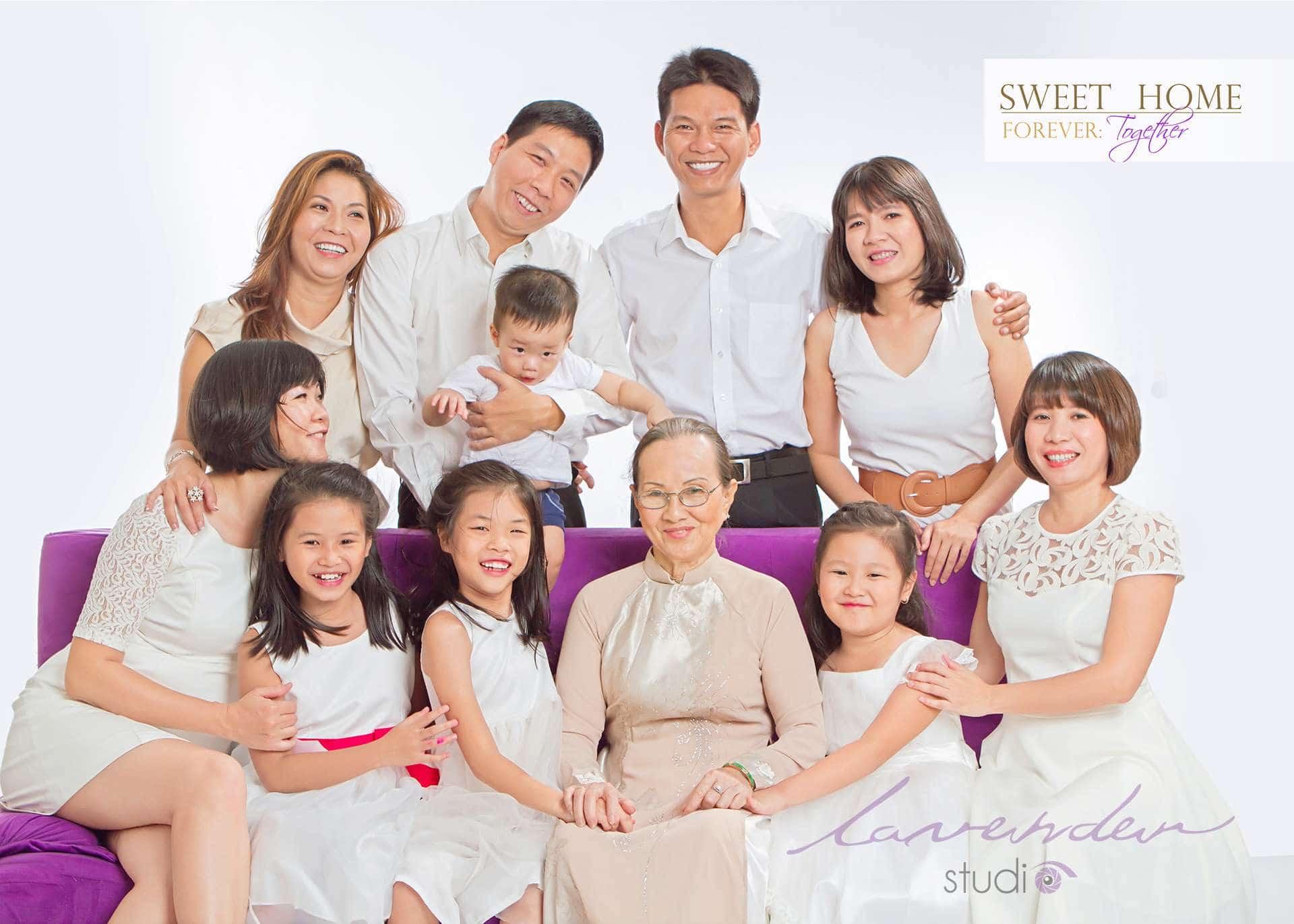 chụp hình đại gia đình đẹp