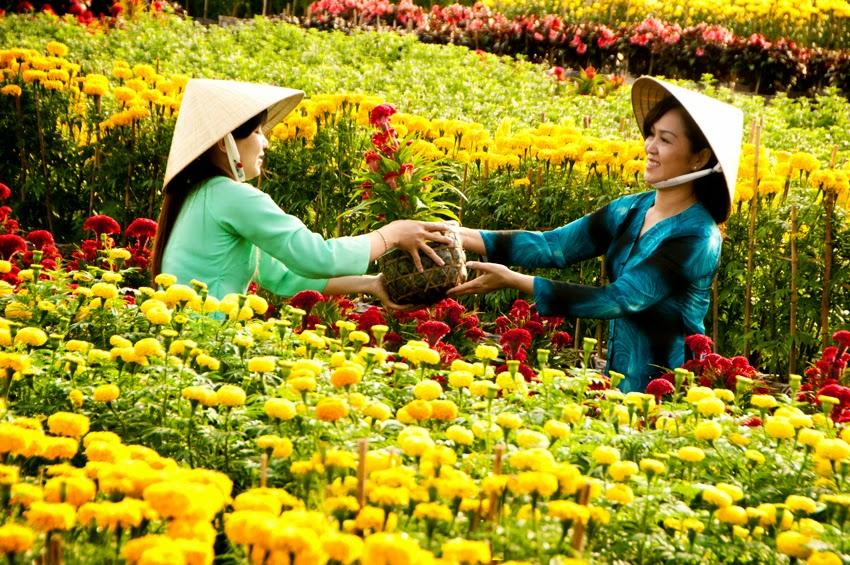 Shoot hình siêu đẹp tại làng hoa Sa Đéc