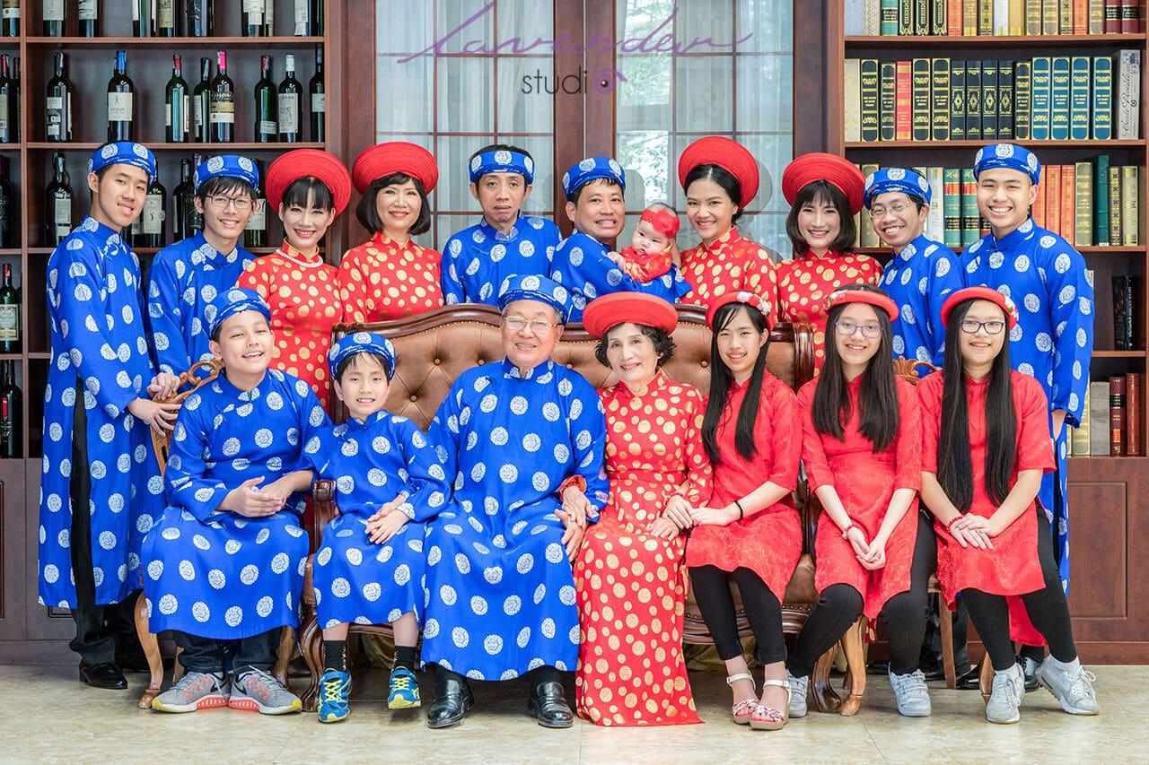 dịch vụ chụp ảnh đại gia đình Tết đẹp ở Hà nội
