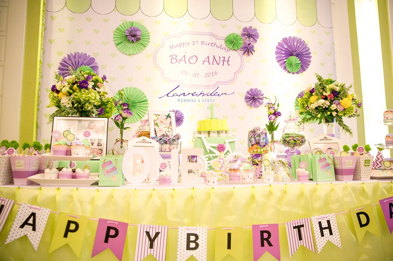 trang trí sinh nhật cho bé gái đẹp tại tphcm