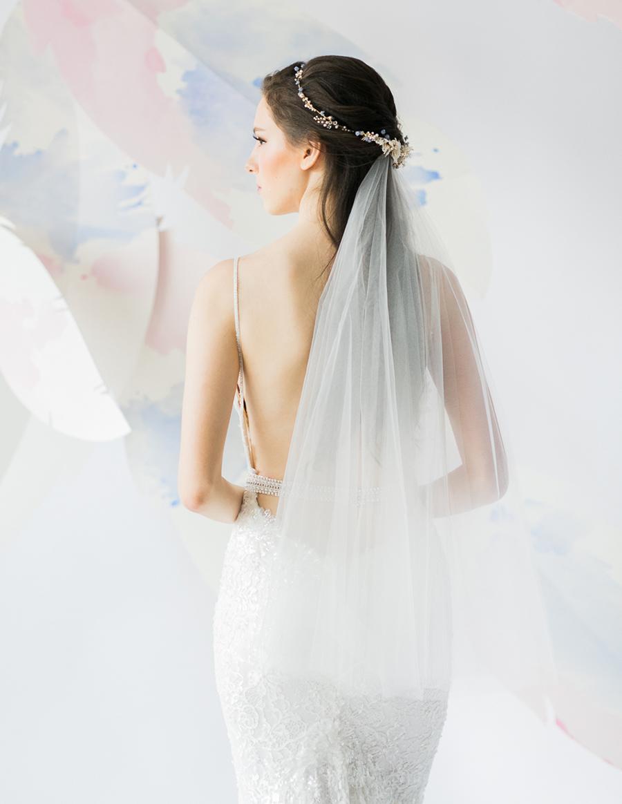 voan cưới phủ đầu cho cô dâu